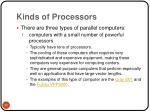 kinds of processors