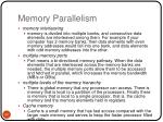 memory parallelism