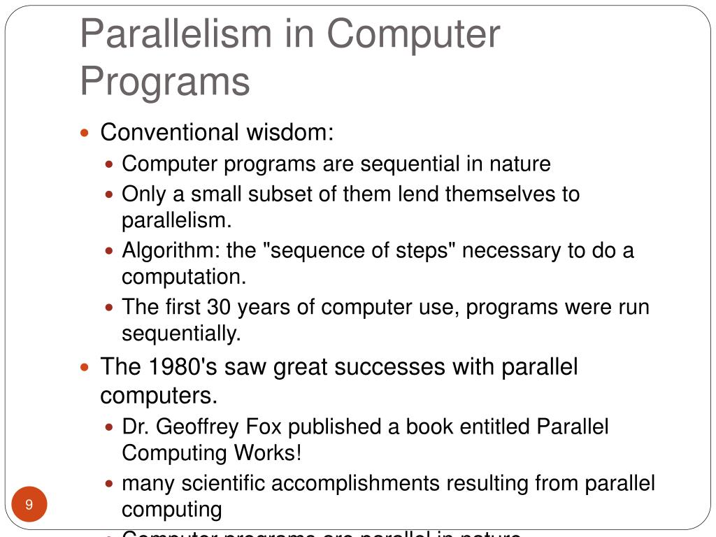 Parallelism in Computer Programs