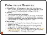 performance measures29