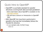 quick intro to openmp