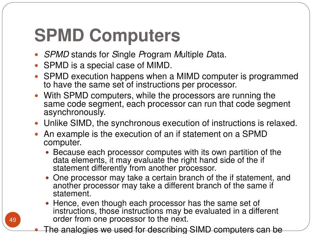 SPMD Computers