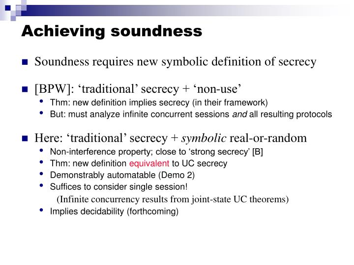 Achieving soundness