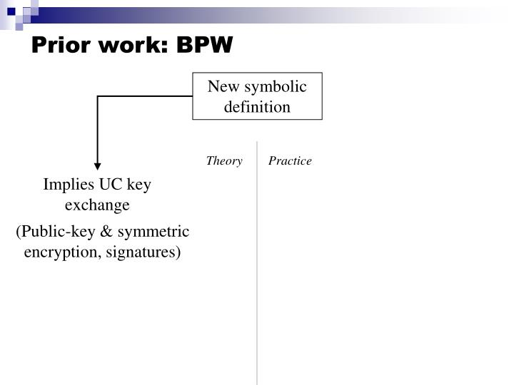 Prior work: BPW