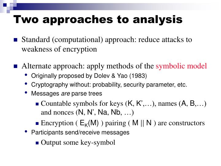 Two approaches to analysis