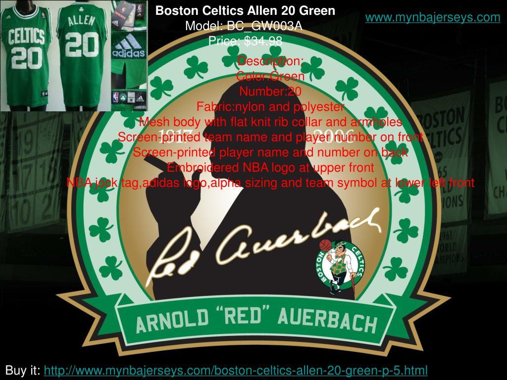 Boston Celtics Allen 20 Green