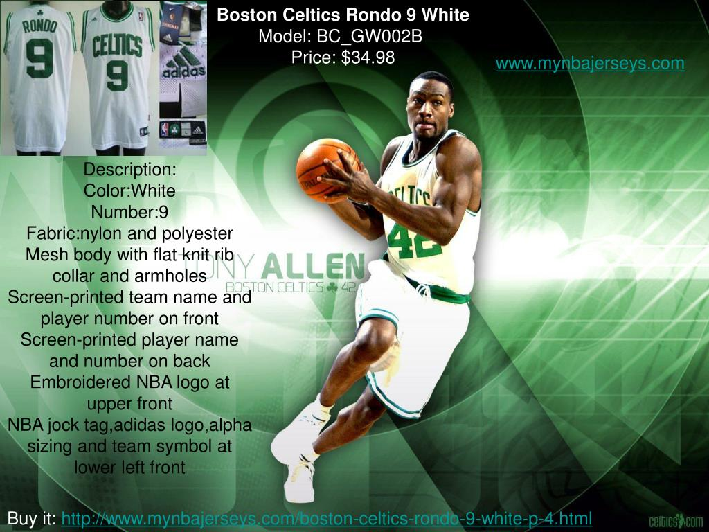 Boston Celtics Rondo 9 White