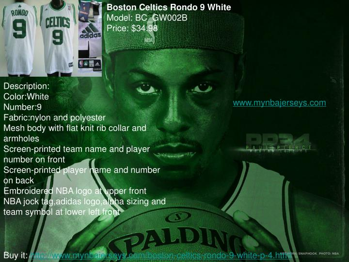Boston Celtics Rondo 9 White