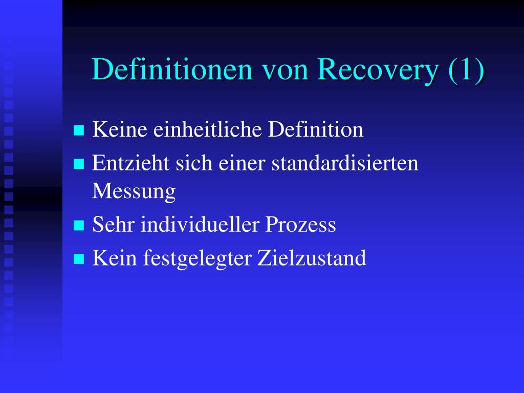 Definitionen von Recovery (1)