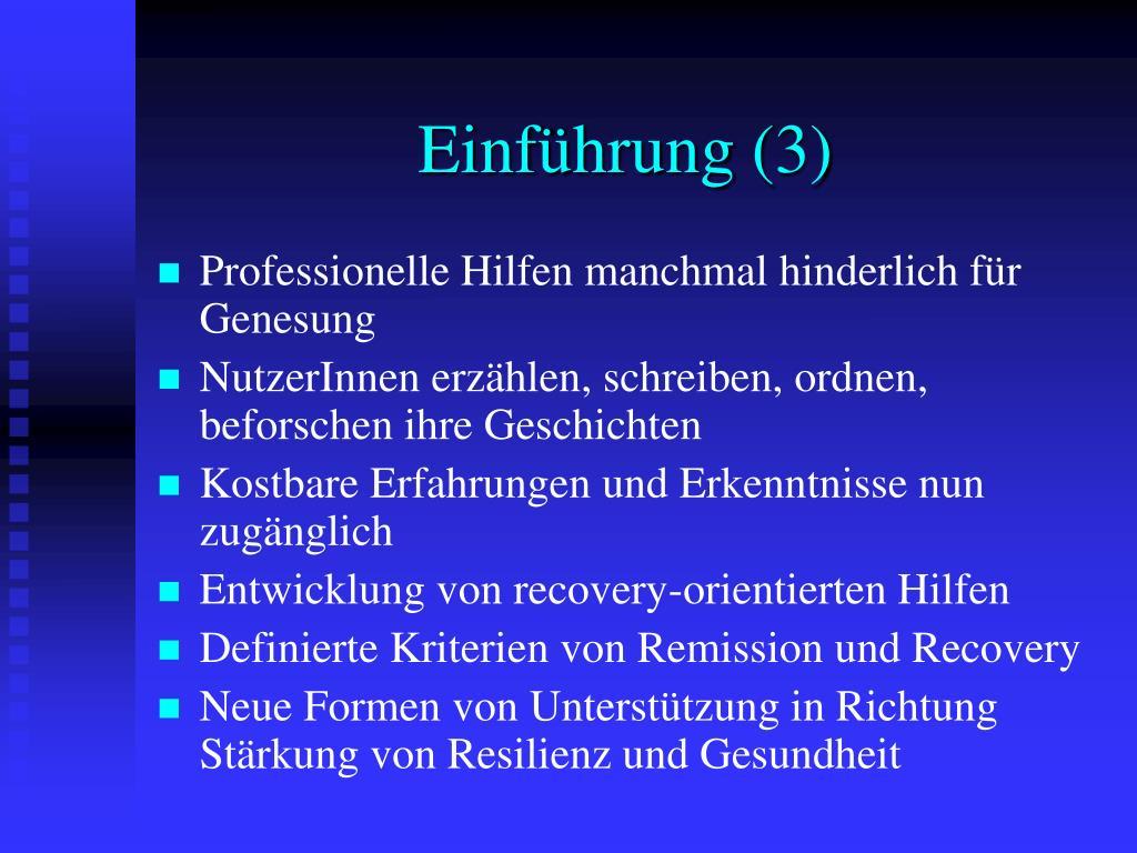 Einführung (3)