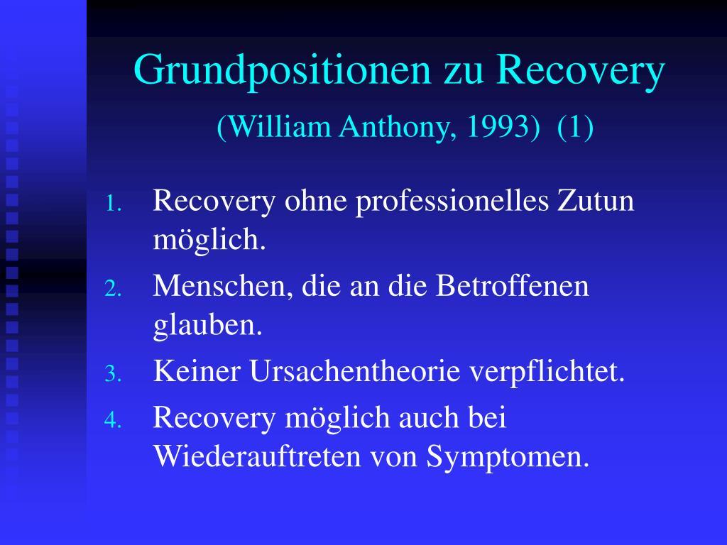Grundpositionen zu Recovery
