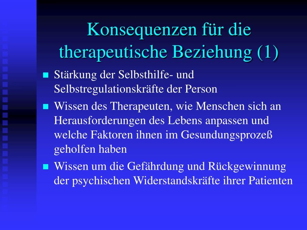Konsequenzen für die therapeutische Beziehung (1)