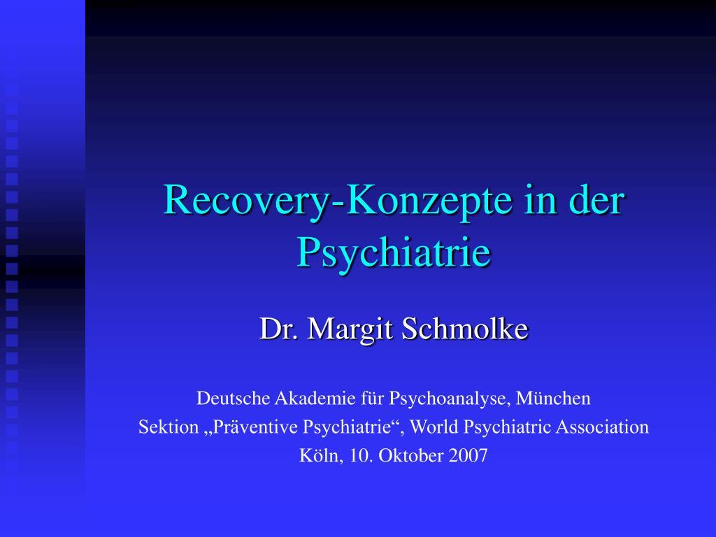 recovery konzepte in der psychiatrie