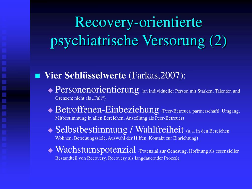 Recovery-orientierte psychiatrische Versorung (2)
