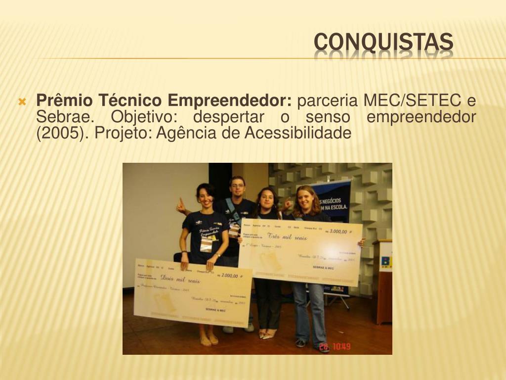 Prêmio Técnico Empreendedor: