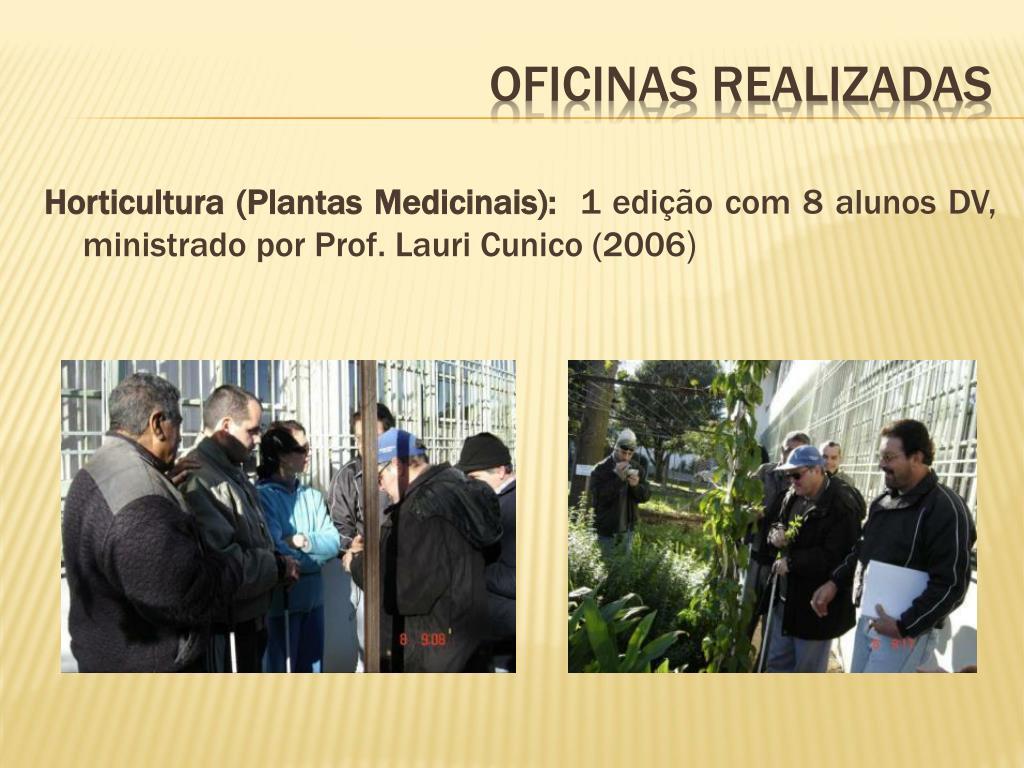 Horticultura (Plantas Medicinais):