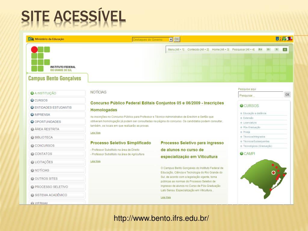 Site Acessível