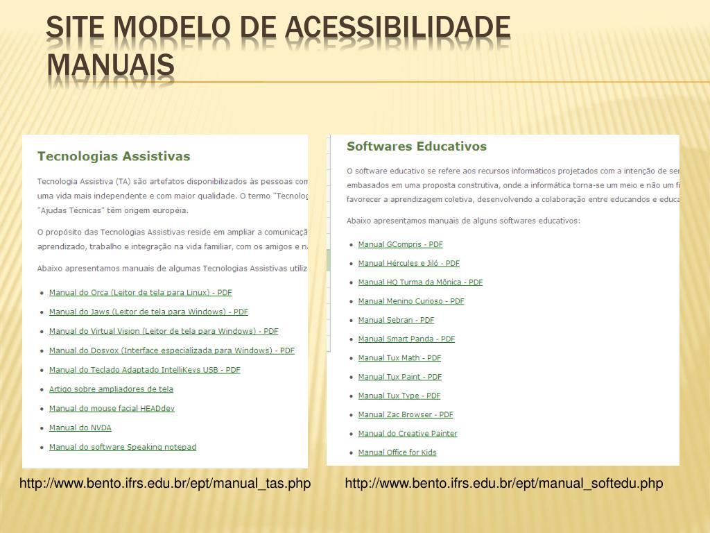 Site Modelo de Acessibilidade