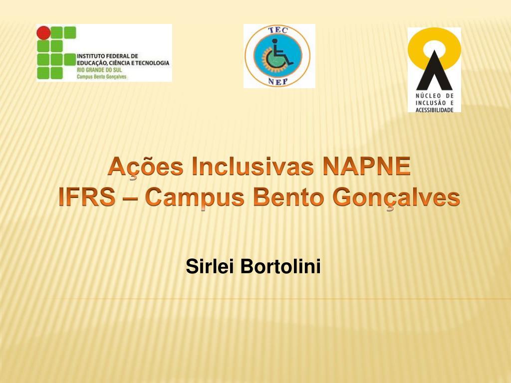 Ações Inclusivas NAPNE