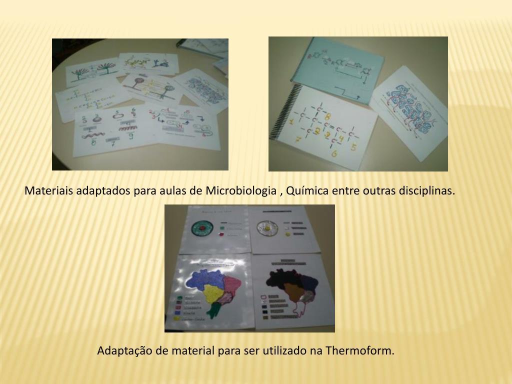 Materiais adaptados para aulas de Microbiologia , Química entre outras disciplinas.