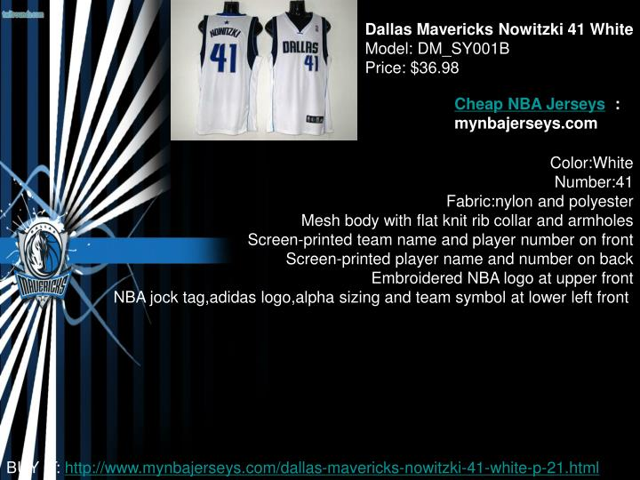 Dallas Mavericks Nowitzki 41 White