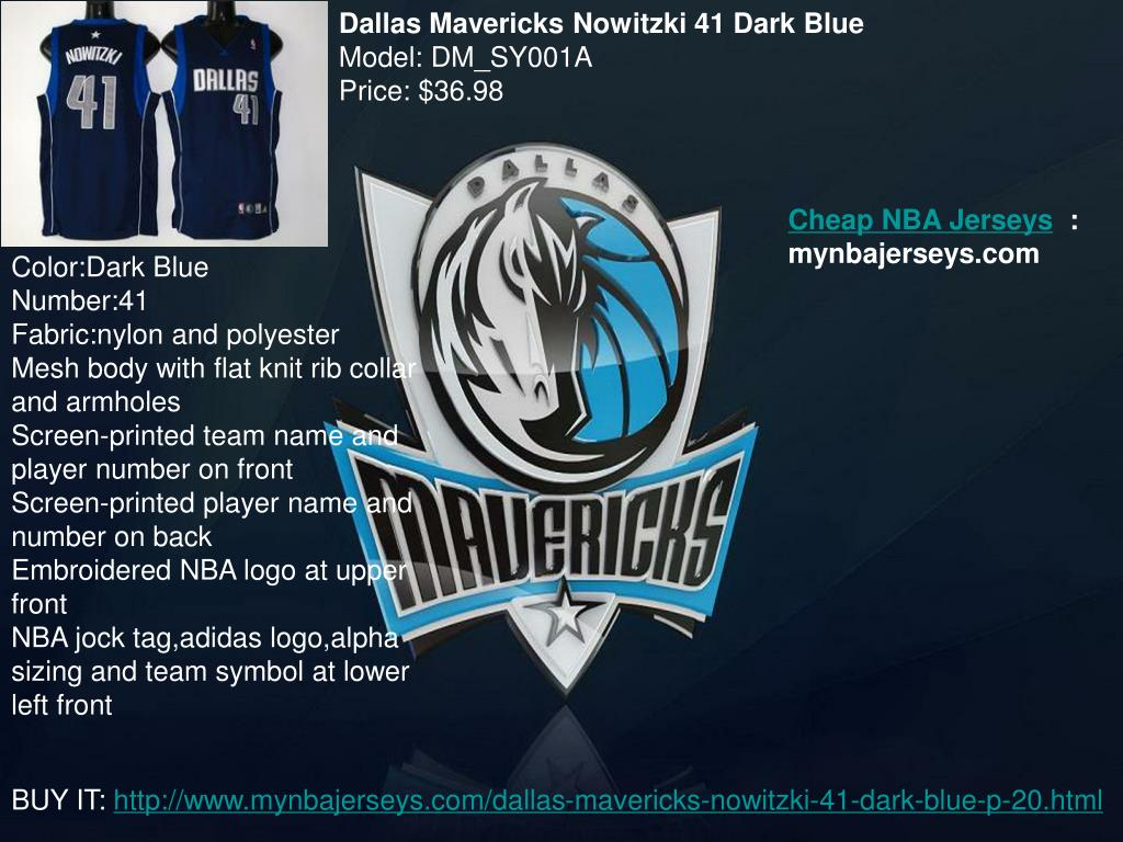 Dallas Mavericks Nowitzki 41 Dark Blue
