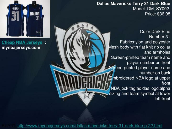 Dallas Mavericks Terry 31 Dark Blue