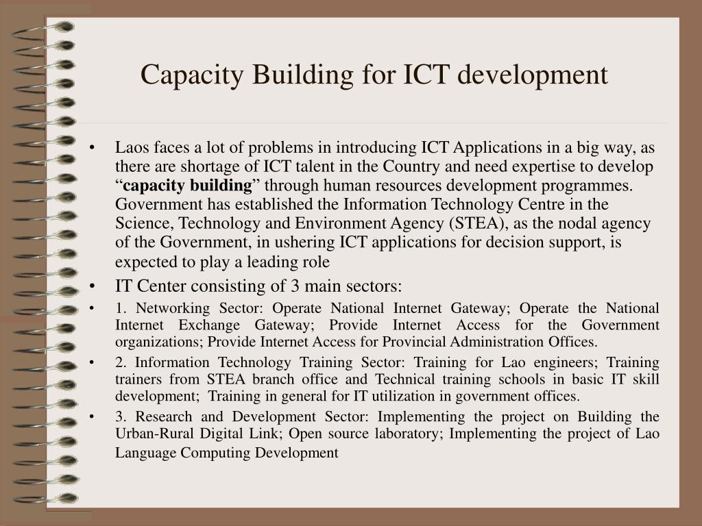 Capacity Building for ICT development