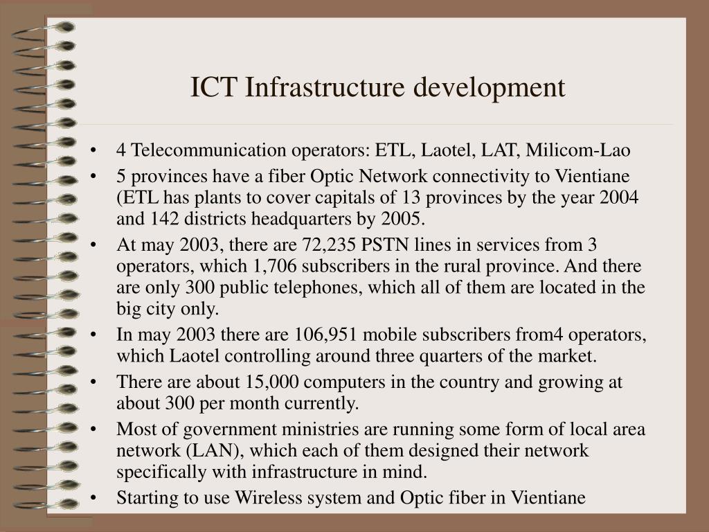 ICT Infrastructure development