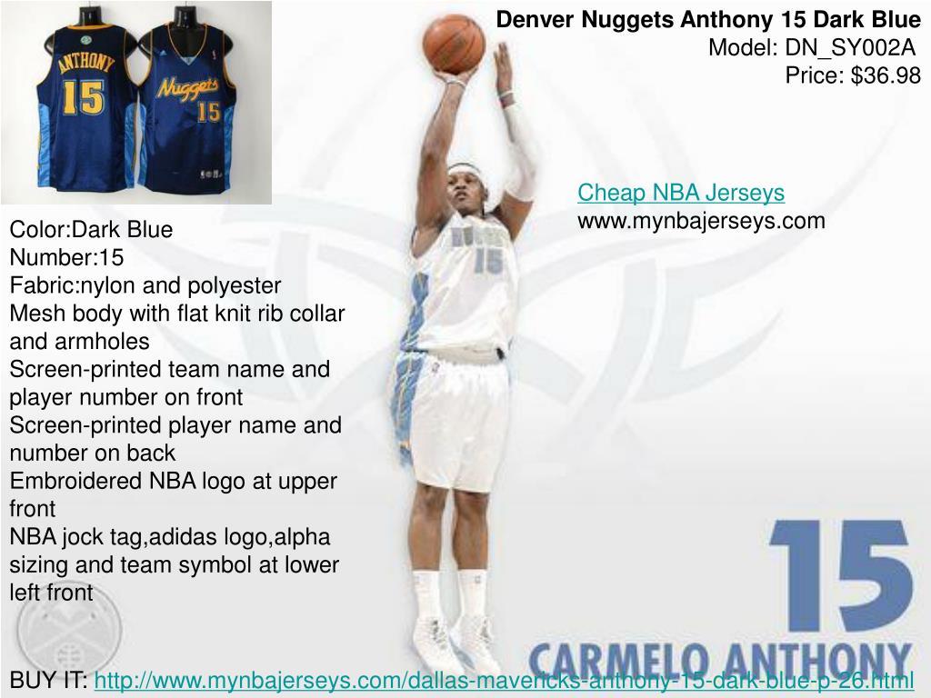 Denver Nuggets Anthony 15 Dark Blue