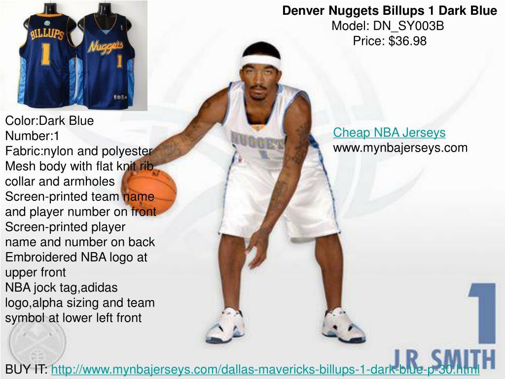 Denver Nuggets Billups 1 Dark Blue