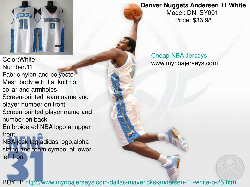 Denver Nuggets Andersen 11 White