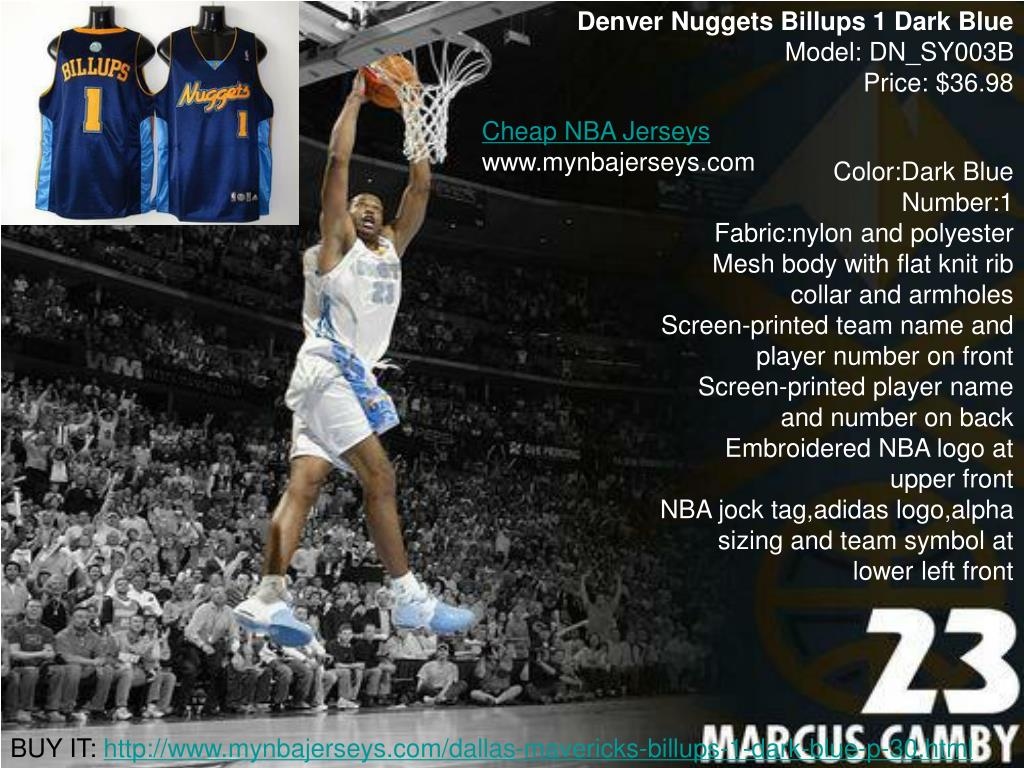 Denver Nuggets Billups 1 Dark Blue
