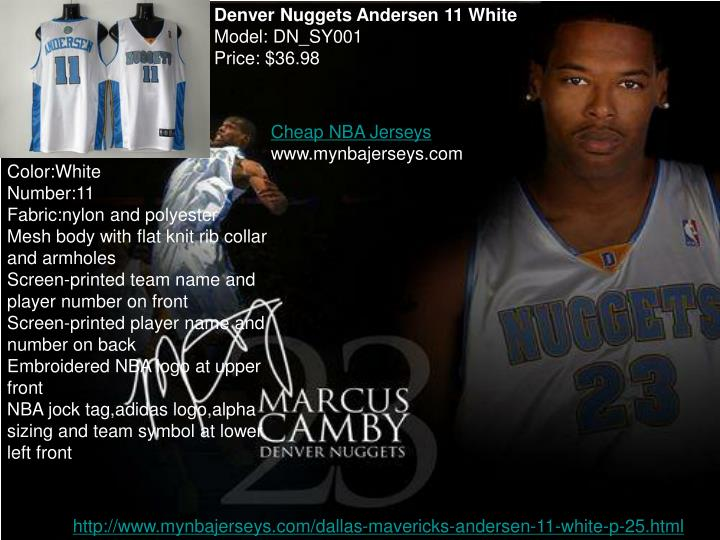 Denver Nuggets Andersen 11 White