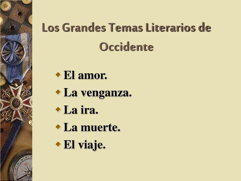Los Grandes Temas Literarios de Occidente
