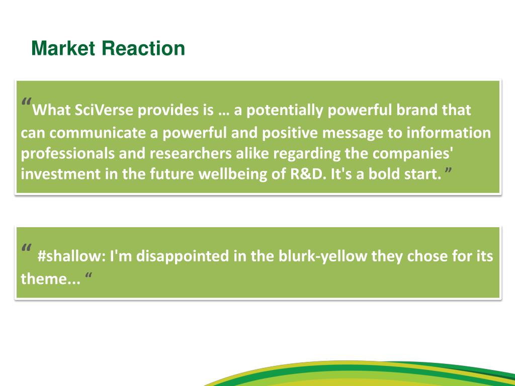 Market Reaction