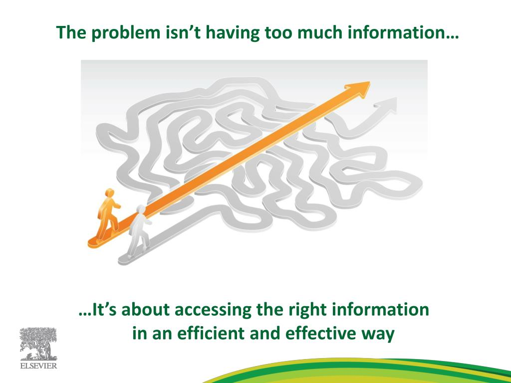 The problem isn't having too much information…