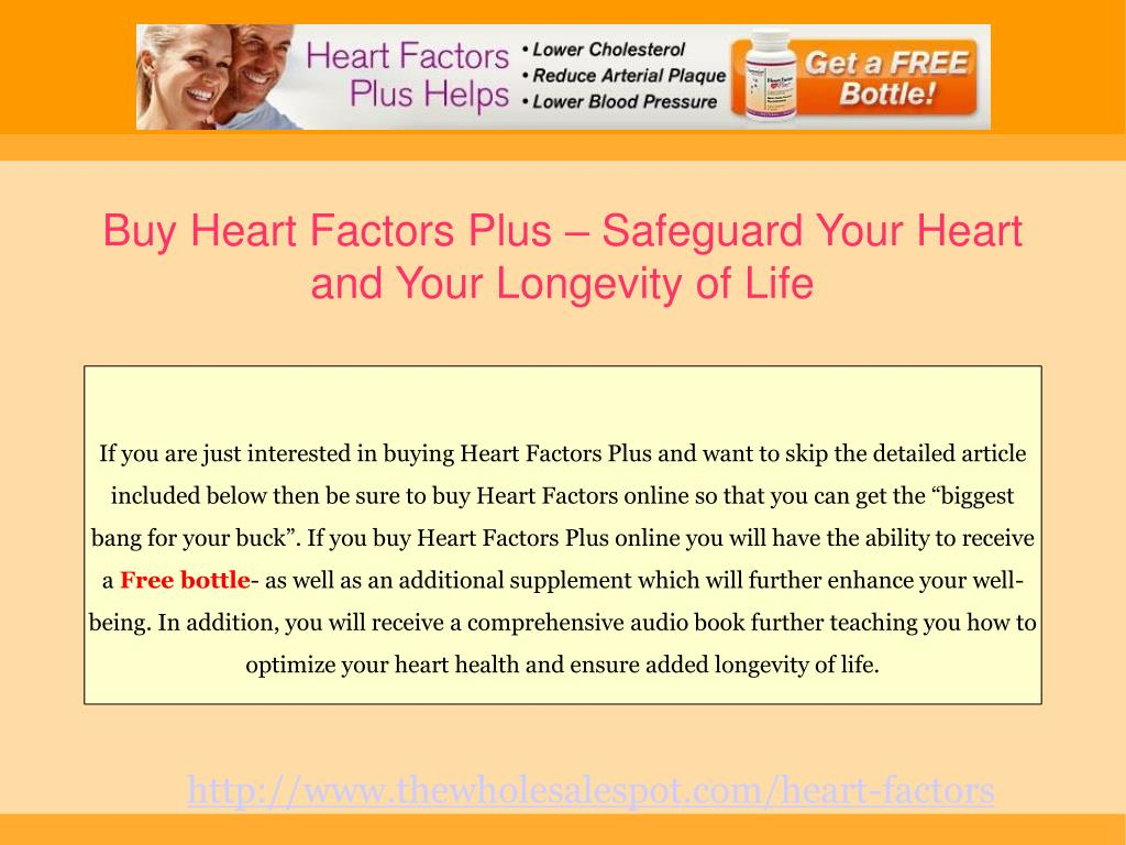 Buy Heart Factors Plus – Safeguard Your Heart and Your Longevity of Life
