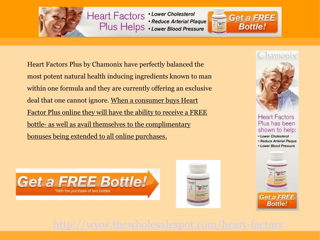 Heart Factors Plus by Chamonix have perfectly balanced the most potent natural health inducing ingredients known to man within one formula and they are currently offering an exclusive deal that one cannot ignore.