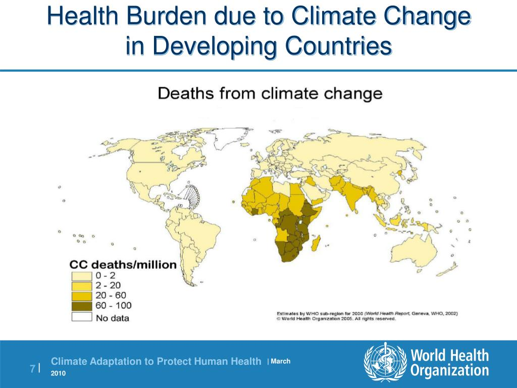 Health Burden due to Climate Change in Developing Countries