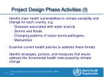 project design phase activities i