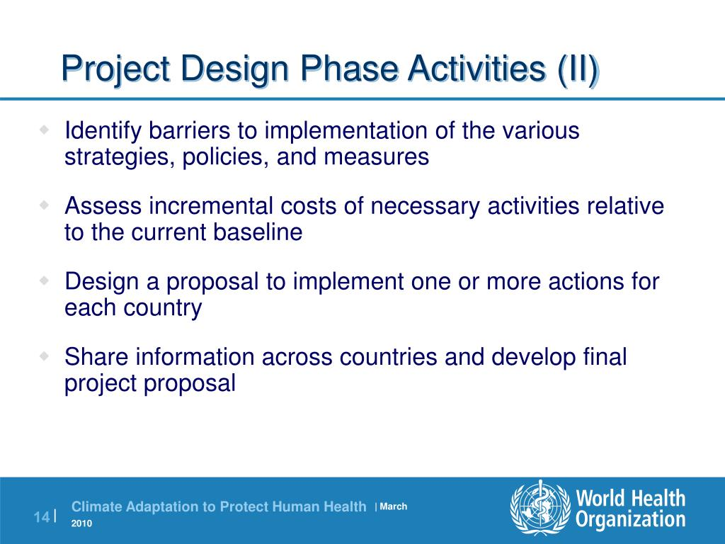 Project Design Phase Activities (II)