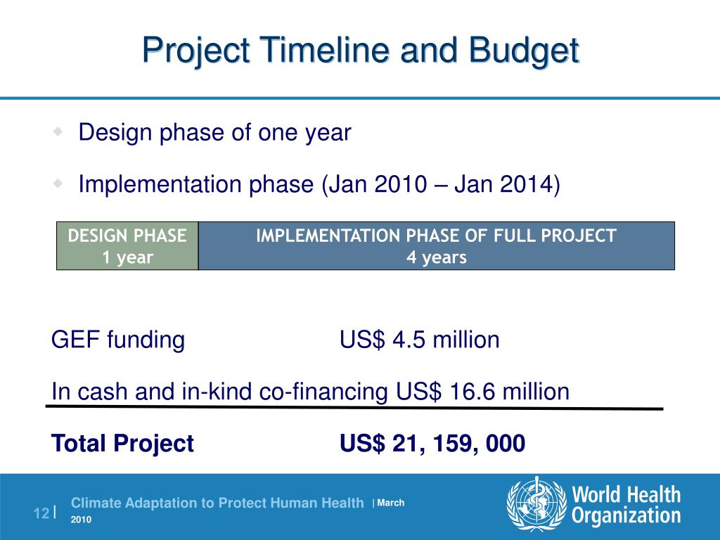 Project Timeline and Budget