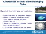 vulnerabilities in small island developing states