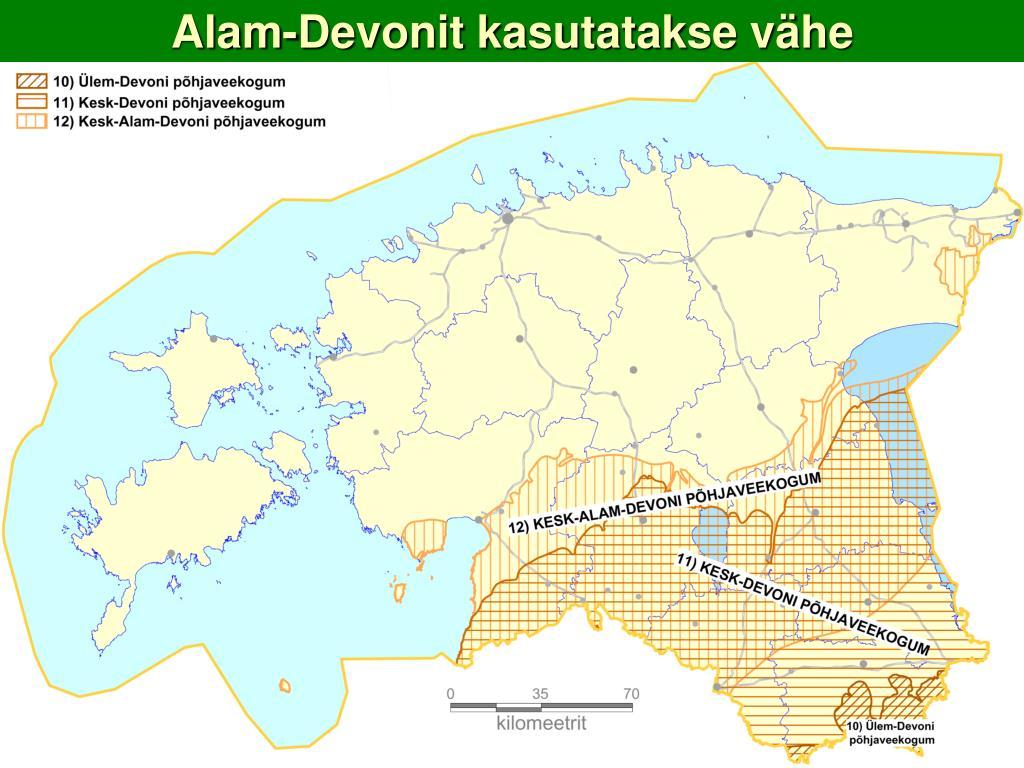 Alam-Devonit kasutatakse vähe