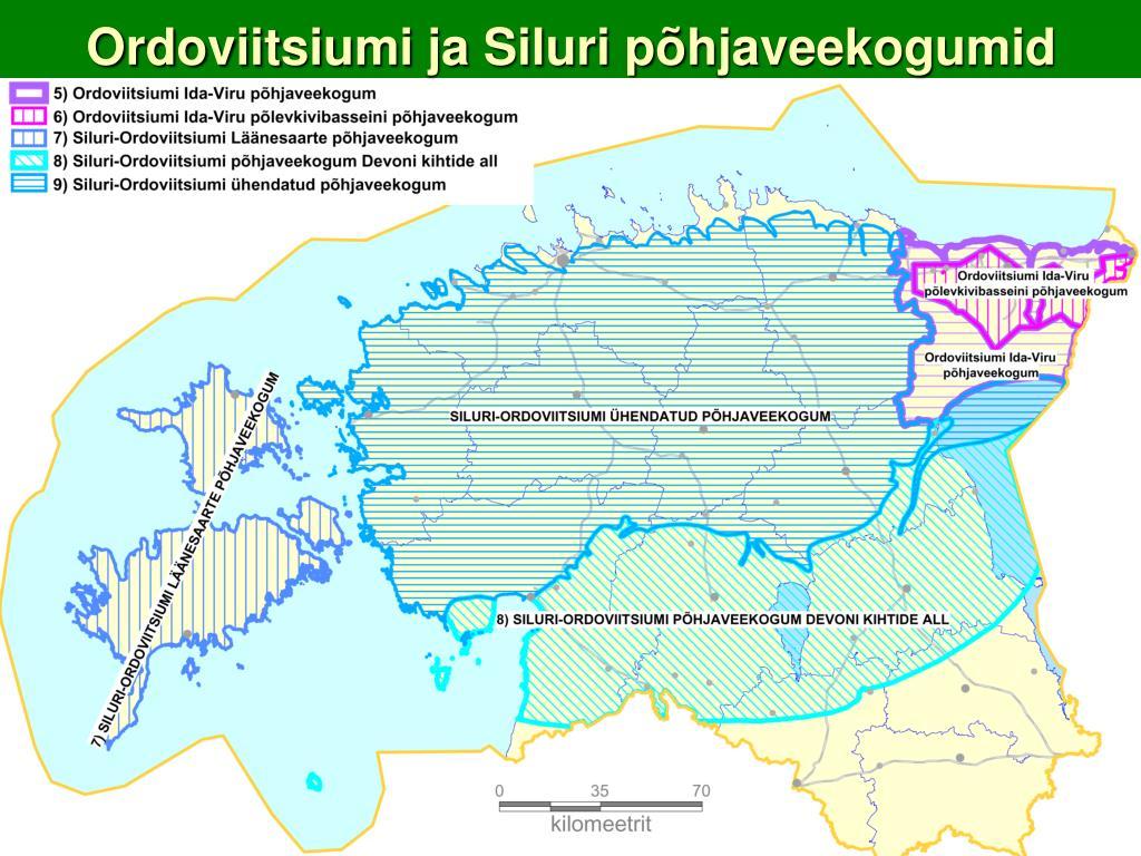 Ordoviitsiumi ja Siluri põhjaveekogumid