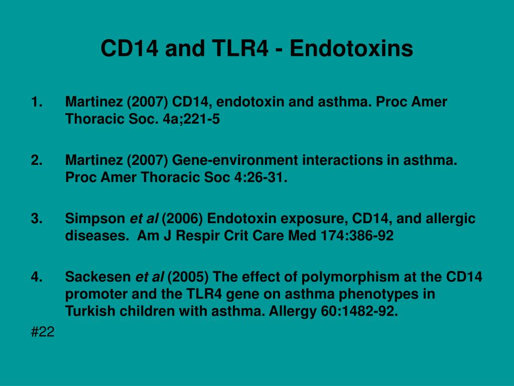 CD14 and TLR4 - Endotoxins