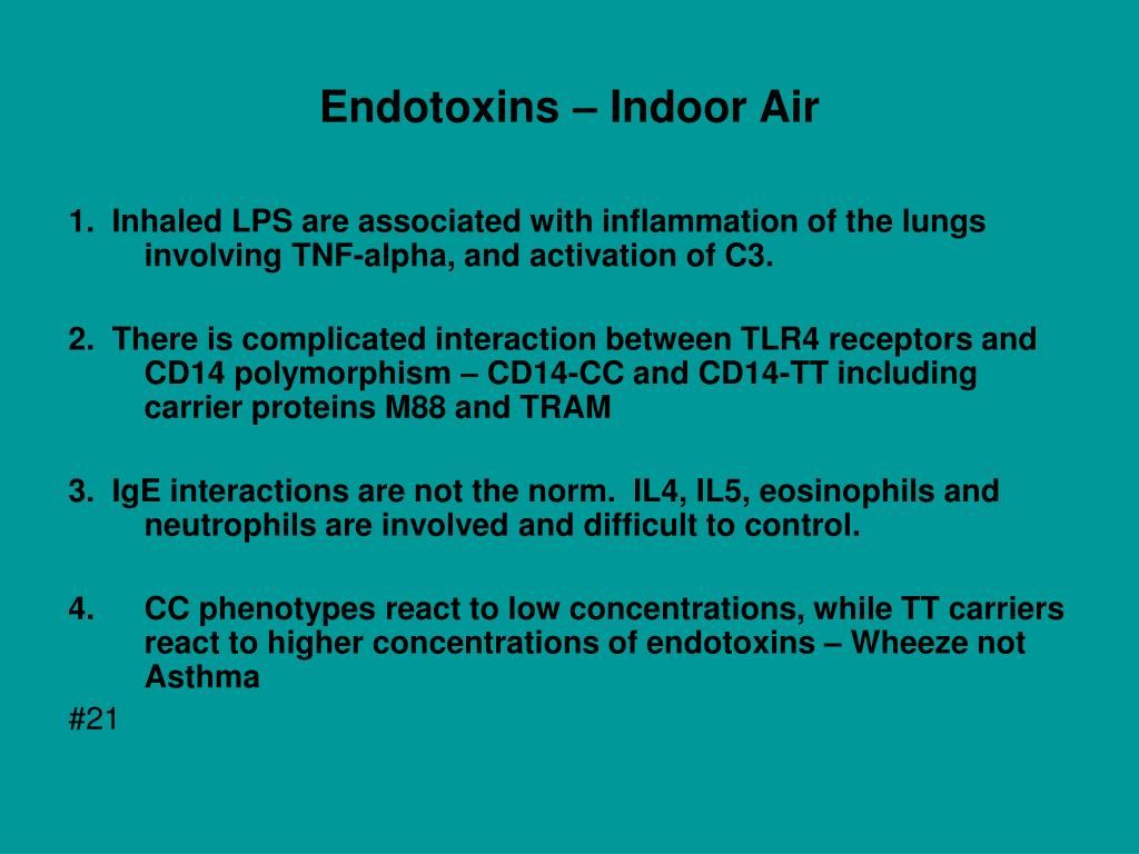 Endotoxins – Indoor Air
