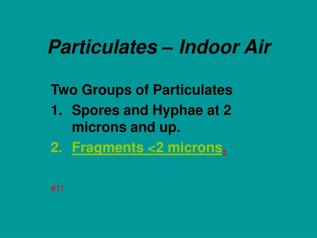 Particulates – Indoor Air