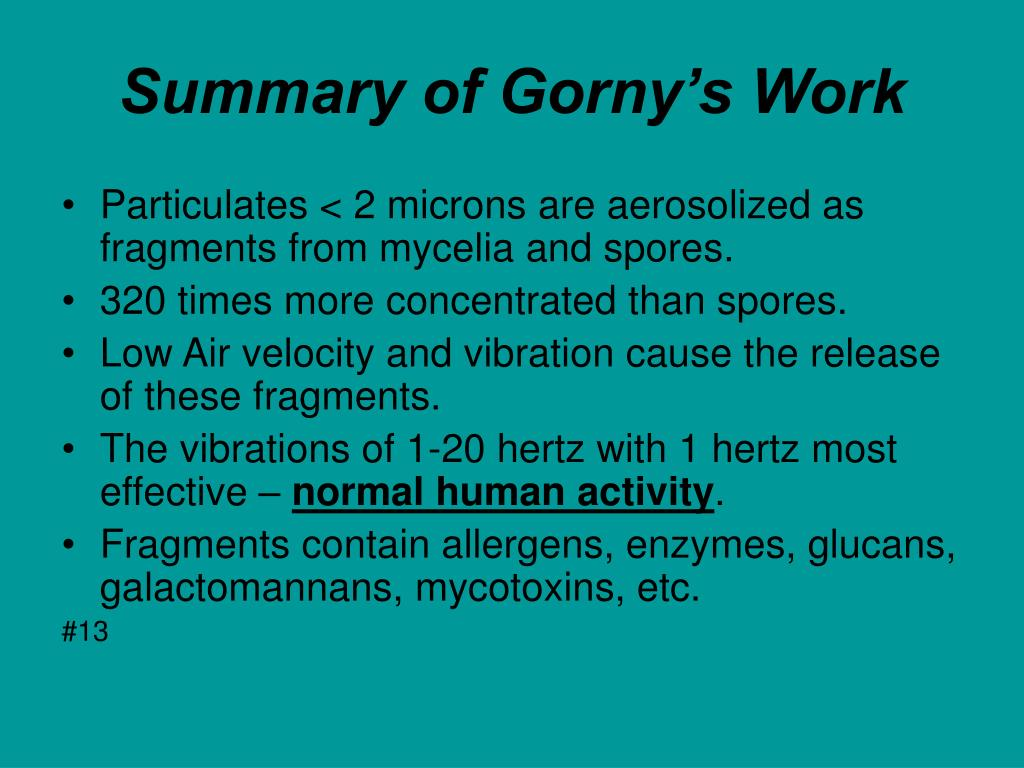 Summary of Gorny's Work